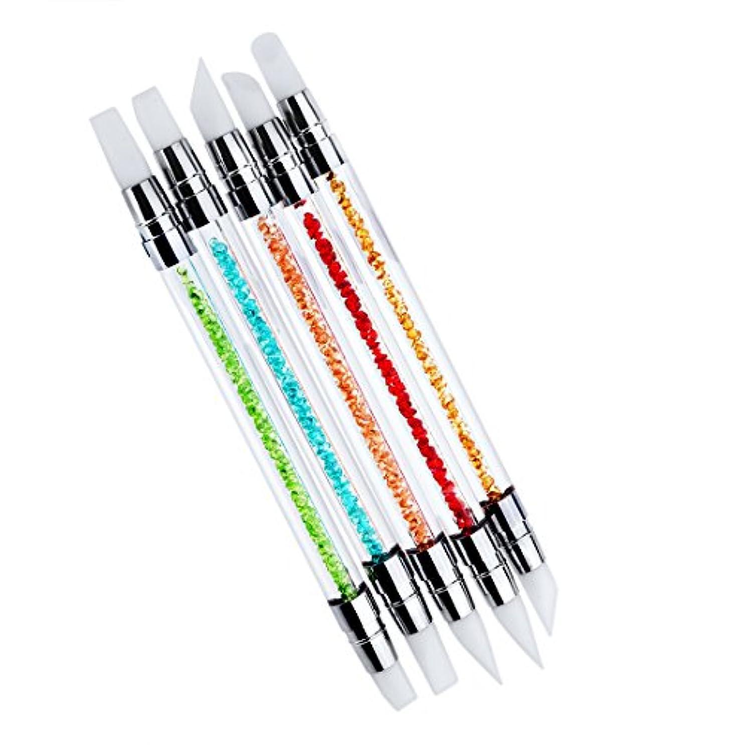外交問題ちょうつがいセッティングBiutee ネイル筆 シリコン筆 ネイルアートブラシ ネイル専用 ネイルアートブラシ 新型 画筆 ペイントブラシ 5本セット シリコン筆先 ジェルネイル用ブラシ