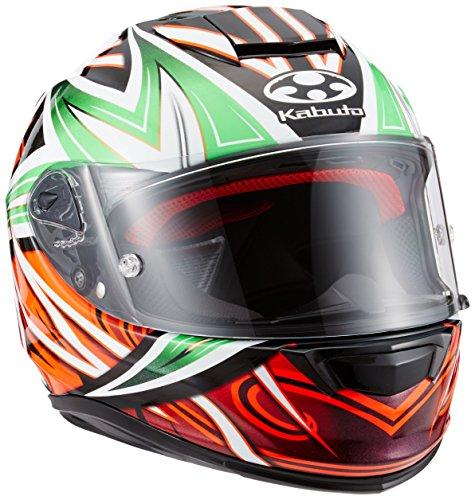 オージーケーカブト(OGK KABUTO)バイクヘルメット フルフェイス RT-33 VELOCE (ヴェローチェ) グリーンオレンジ (サイズ:XL)