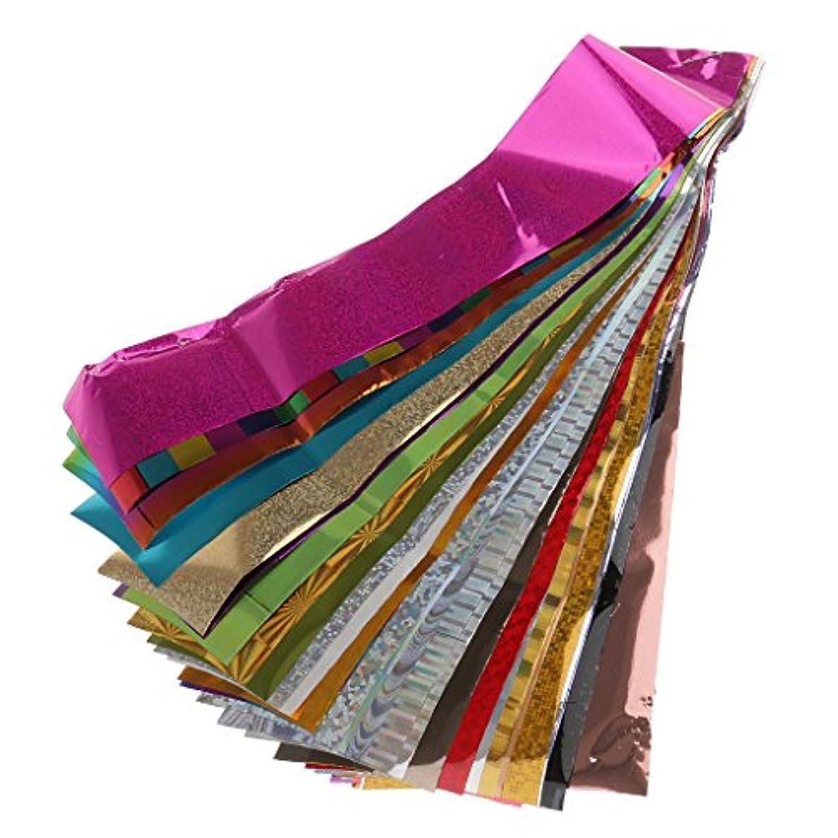 拡散するストロー顎Perfk 50個/セット 爪 転送箔 キラキラ ネイルアート ステッカー デカール DIY 装飾 魅力的 人気