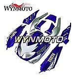 WYNMOTOフルエクステリアパーツセット適応フィットヤマハ TMAX 500 XP 500 2001-2007 01 02 03 04 05 06インジェクションABSプラスチックオートバイボディキットブルーシルバーホワイトボディフレームをカスタマイズ