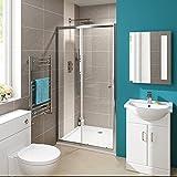 1000mmモダンスライドガラスCubicleドア浴室アルコーブシャワーエンクロージャby iBathUK