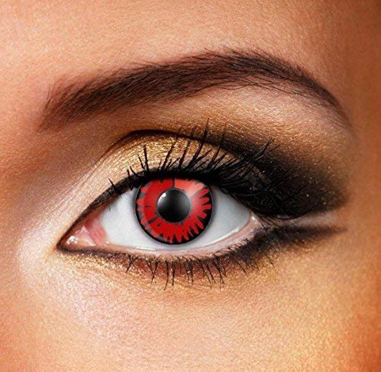 印象的エジプト傑作Cosplay Color Contact Lenses 化粧用コンタクトレンズ、ハロウィーンコスプレ カラーコンタクトレンズ、なファッションコンタクトレンズ (レッド)