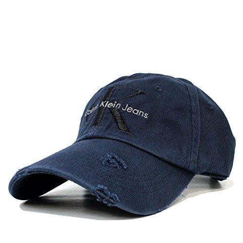 カルバンクライン キャップ Calvin Klein Jeans (カルバンクライン ジーンズ) ユニセックス 刺繍キャップ CK ロゴ 刺繍 (DARK INDIGO) 42AH901