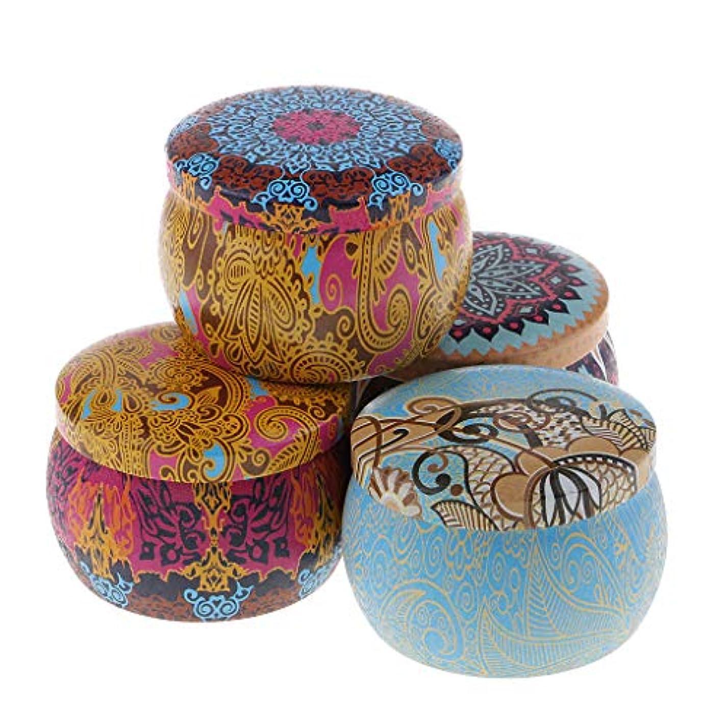 フォアマン正しい脅かす民族風 アロマキャンドル 大豆 4個 贈り物 蝋燭 可愛い外観 癒しの灯り 135g 消臭約24時間