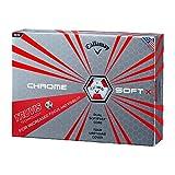 CALLAWAY キャロウェイ 2017年 ゴルフボール CHROME SOFT X クロム ソフト X TRUVIS レッド 1ダース 12球