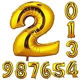 誕生日 数字 バルーン 風船 ナンバー 90cm 風船 数字バルーン ゴム風船 誕生日 パーティー飾りに  (数字2)