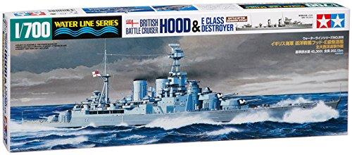 Tamiya 1 / 700 No.806 British Navy Cruiser battleship hood/e class destroyer Atlantic pursuit operations plastic 31806