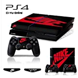ナイキ シューズ Ci-Yu-Online VINYL SKIN [PS4] Whole Body VINYL SKIN STICKER DECAL COVER Nike Air Jordan 1 Retro Black Red Logo Shoe Box for PS4 Playstation 4 System Console and Controllers [並行輸入品]