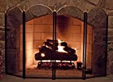 4パネルアウトドアLargeゴールド暖炉スクリーン錬鉄ブラックメタルFire Place画面装飾メッシュカバーベビーセーフProofプライバシーのドアと画面Grateアクセサリー