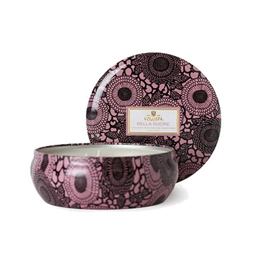 不安ウイルス肌寒いVOLUSPA ヴォルスパ ボルスパ ジャポニカシリーズ ベラ シュークレ 3-wickティンキャンドル 340g 約60時間 JAPONICA 3Wick Candle in Decorative Tin 12oz(60...