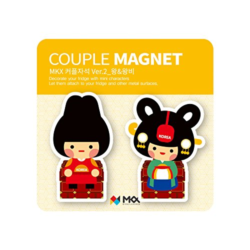 King and Queen Couple冷蔵庫マグネットJoseon Dynasty Korea Traditionalコスチュームメモホルダー