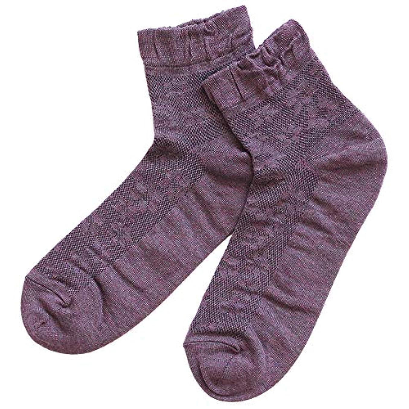 どのくらいの頻度でまさに小道温むすび かかとケア靴下 【足うら美人メッシュタイプ 女性用 22~24cm パープル】 ひび割れ ケア 夏用