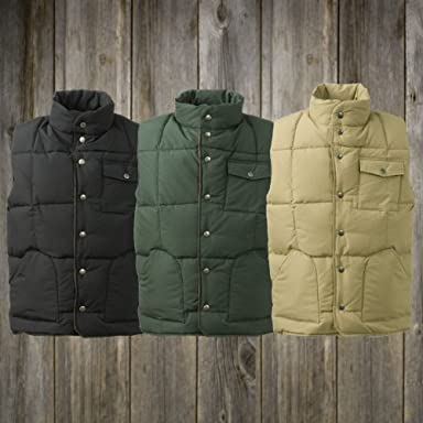 One Pocket Down Vest 700012480: Black, Dark Green, Khaki