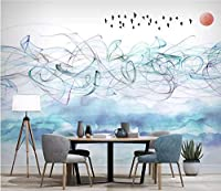 3D壁紙 写真 壁画 ロール 壁紙 ホーム装飾 紙 中国抽象画 早朝 自然風景 壁紙 リビングルーム用 3D画像 210cm (H) X 290cm (W) 6947233751436
