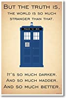 Doctor Whoターディス –  – But the Truth Is、世界はSo Much Stranger Than That – 新しいQuoteポスター