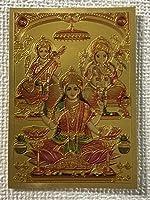 ヒンドゥー ラクシュミー サラスヴァティ ガネーシャ テッカー 角B サイズ(約):縦8.5㎝×横6㎝