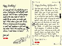 Quiplip Handwritten Yours Truly Birthday Cards 6-Pack (YT06166PCK) [並行輸入品]