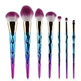Unicorn Brush Makeup Brushes Set 7pcs Rhinestone Tools Powder Foundation Eye Lip Concealer Face colorful Brush Kit