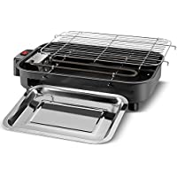 duceny Electric Smokeless BBQグリル、3 in 1 Cooking Grate forホームガーデンバーベキューツールセット