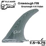 """(トゥルーアムス) True Ames グリノーフィン【George Greenough Design 4A Volan】ジョージグリノー4A VOLAN FIN7.5~9.75 ロングボードセンターフィン シングルフィン 9.0"""""""