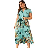 Bohao Design Large Size Women's Fat mm Summer Printed Dress