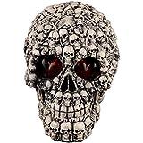 LUOEM スケルトンヘッドハロウィーンの頭蓋骨の装飾スケルトンモデルハロウィンの装飾品ハロウィーンの恐ろしい小道具とLEDライト