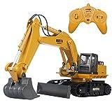 11CH 2.4Gフル機能RCブルドーザー電気リモートコントロールショベルキャタピラーRC建設車両おもちゃ