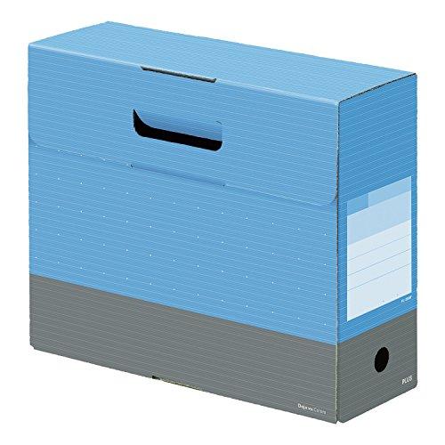 ファイルボックス フタ付き A4横 背幅100mm デジャヴ スカイブルー 76-131