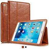 KAVAJ iPad mini 4 レザーケース、カバー 「ベルリン」 コニャックブラウン - 本革、スタンド機能付き。Apple iPad mini 4用、洗練された薄いカバーが極上のアクセサリに。