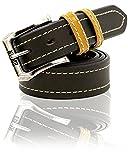 EDWIN(エドウィン) ベルト バックル ロゴ カラー ループ 革 牛革 メンズ ダークブラウン Free