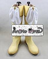 ●●サイズ選択可●●女性23.5CM MJQ1012 コスプレ靴 ブーツ ラブライブ! Love Live! 4月編 フルーツパーラー SR 覚醒後 園田海未