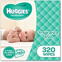 Huggies Fragrance Free Baby Wipes Tubs (Pack of 320)