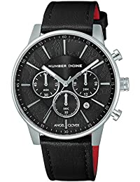 [エンジェルクローバー]Angel Clover 腕時計 NUMBER(N)INE ×ANGEL CLOVER COLLABORATION ブラック文字盤 60分計クロノグラフ NNC42SBK-BK メンズ