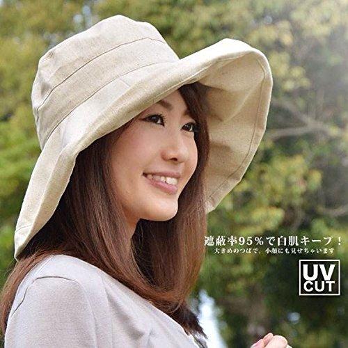 S&CLive UVカット遮光ハット 日よけ帽子 折り曲げて...