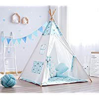 小さな少年ブルー雲Teepee Tent for Kids Childrens Tepee Indian Wigwamテント