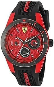 時計 Ferrari フェラーリ Men's 0830255 REDREV T Analog Display Japanese Quartz Black Watch メンズ 男性用 [並行輸入品]