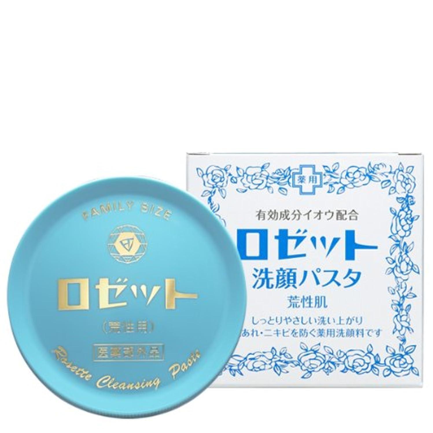 瞳装置もろいロゼット 洗顔パスタ 荒性肌 90g (医薬部外品)