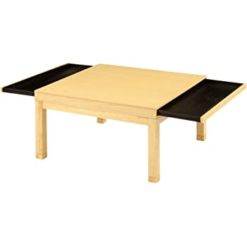 こたつ 炬燵 正方形 テーブル ローテーブル 座卓 引き出し付 高さ調節 継ぎ足 80×80 木製 ナチュラルA