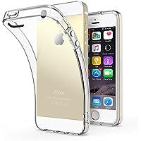 iPhone SE ケース、iPhone5s ケース、TechRise iPhone SE/5sケース クリアケース 透明ケース 衝撃吸収 薄型 軽量-クリスタルクリア