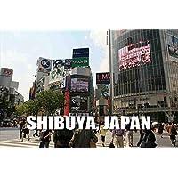 ポストカードAIR【観光地シリーズ】「SHIBUYA, JAPAN」渋谷スクランブル交差点のフォトカードポストカードハガキはがき絵葉書postcard-