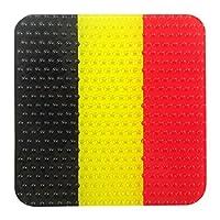 国旗柄 クリヤーコースター (ベルギー)