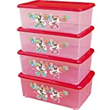 アイリスオーヤマ ボックス キッズ ディズニー ミッキー&ミニー 4個セット 幅26.4×奥行40.2×高さ15cm NBSB-M×4
