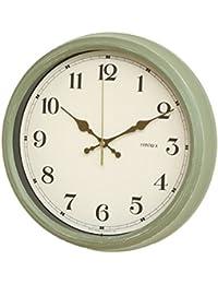【限定色】NOA Aerial Retro(電波時計 エアリアル レトロ)掛け時計 オリーブグリーン W-571 OGR