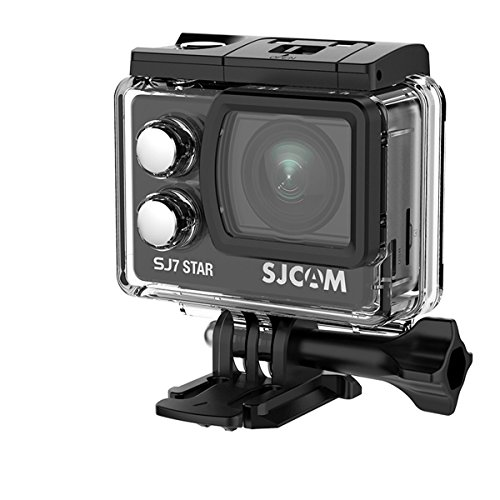 SJCAM SJ7 STAR(2017年改良版) 4Kアルミニウムボディスポーツカメラ(追加電池*1、microsd 16GB*1同梱)タッチスクリーン ジャイロスコープ アクションカメラ