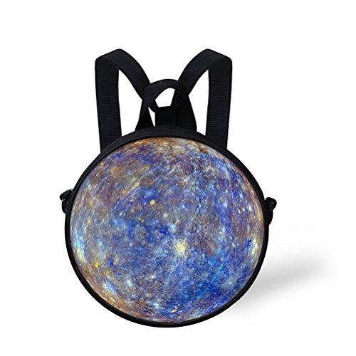 ThiKin 3wayリュック 斜めがけバッグ 円形 宇宙柄...