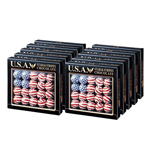 アメリカお土産 アメリカンフラッグボール チョコレート 10箱セット
