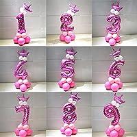 cacys Store 1set 32インチピンク2.3GラテックスBallonsウェディングデコレーションパーティー用品桁ホイルバルーン誕生日バルーンfor Baby Kids