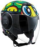 AGV エージブイ City Fluid Tartaruga Top Jet Helmet 2017モデル ヘルメット グラフィック XL(61?62cm)
