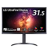 LG 有機EL 4Kモニター ディスプレイ 32EP950-B 31.5インチ/DCI-P3 99%, Adobe RGB 99%/DisplayHDR TRUE BLACK 400/コントラスト比 100万:1/応答速度 1ms/USB Type-C, HDMI, DisplayPort×2/高さ調節, ピボット対応