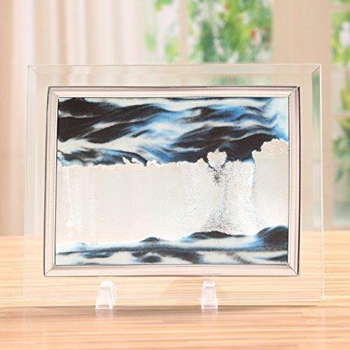 RoomClip商品情報 - 【幻想アート インテリア】 サンドピクチャー 砂が落ちて 模様を造る おしゃれ 雑貨 置き物 贈り物 選べる 3色 (ブルー)